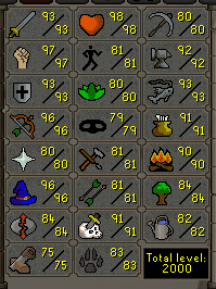 2k Total No 99s This Or That Questions Old School Runescape