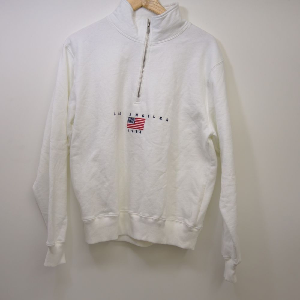 c9814c099592 New Womens John Galt Los Angeles Half Zip Pullover Sweatshirt One Size Fits  All  JohnGalt  SweatshirtCrew