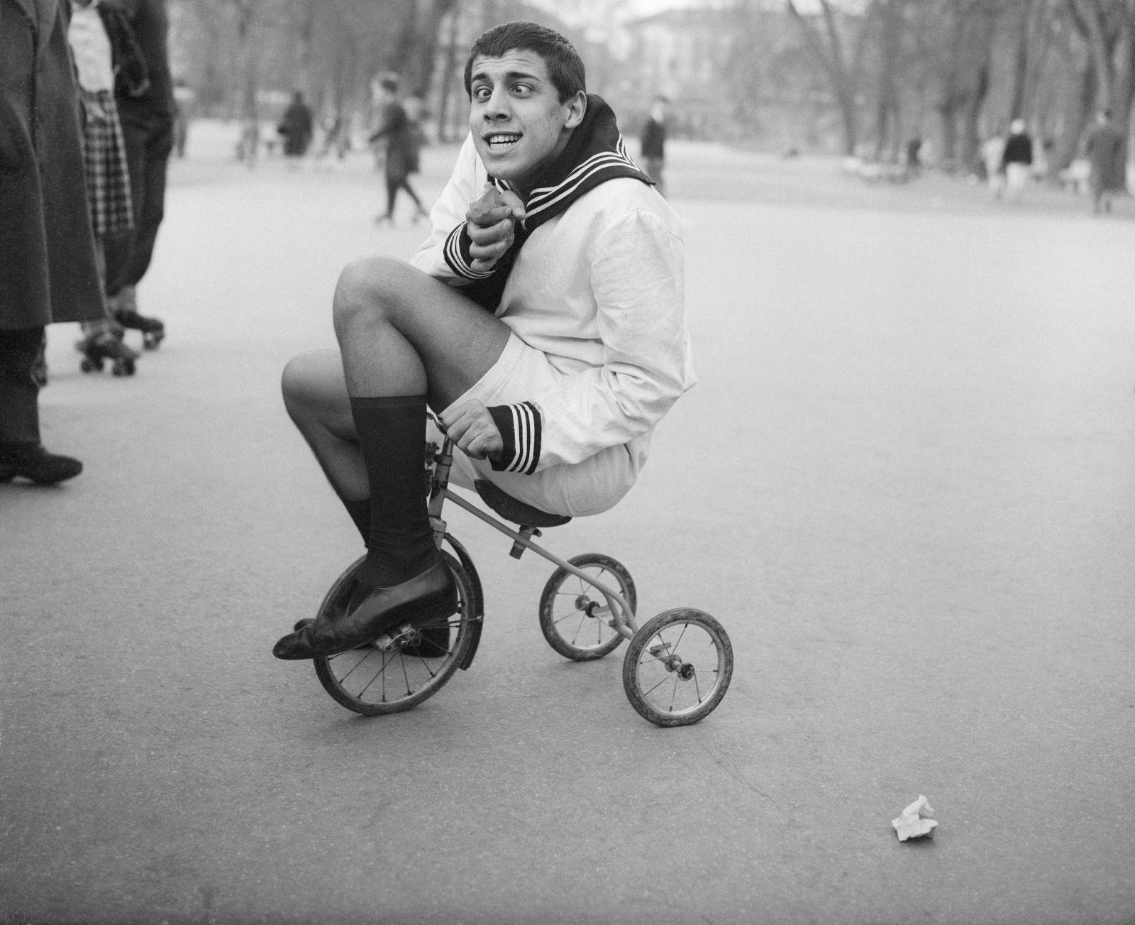 Adriano Celentano Imitating Jerry Lewis 1956 By Otto Bettmann