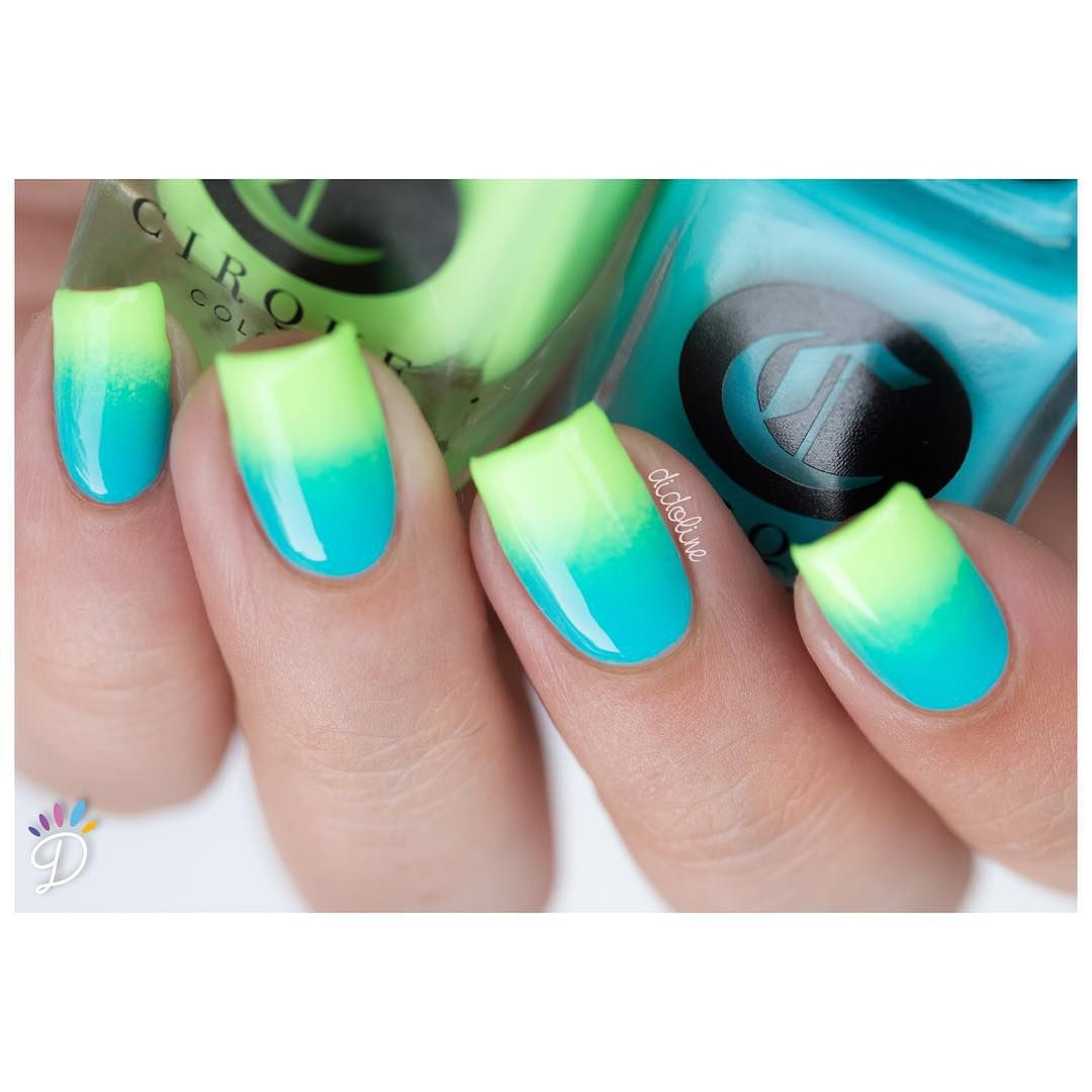 Two Tone Nail Polish Fade: Two Tone Gradient Featuring Cirque Colors C.R.E.A.M. And