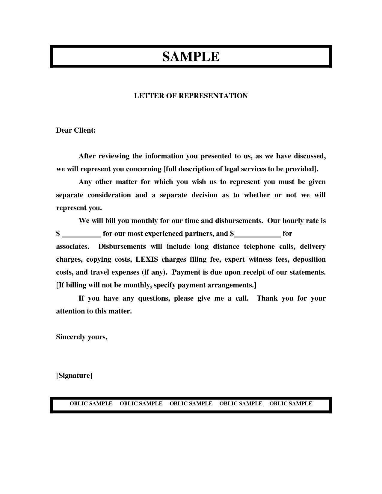 Letter Of Representation Lettering Resume Engineering Resume Templates