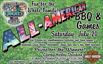 Fun for the Whole Family!  Join Liberty for complimentary barbecue and lawn games, featuring Lawn Bocce, Horsehoes, Bean Bag and a few other favorites!  PRIZES FOR THE WINNERS!!