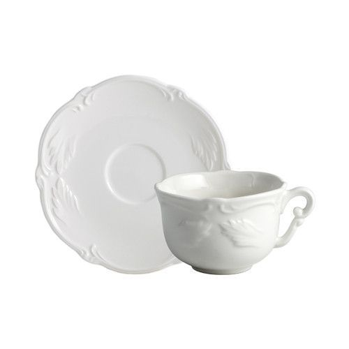 Gien Rocaille Blanc S 2 Breakfast Cups Saucers Breakfast Cups