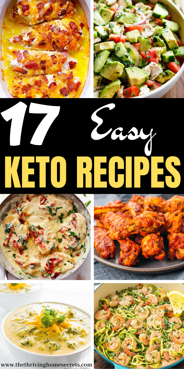 17 Healthy and easy keto recipes for beginners. Keto recipes for weight loss. Ke…