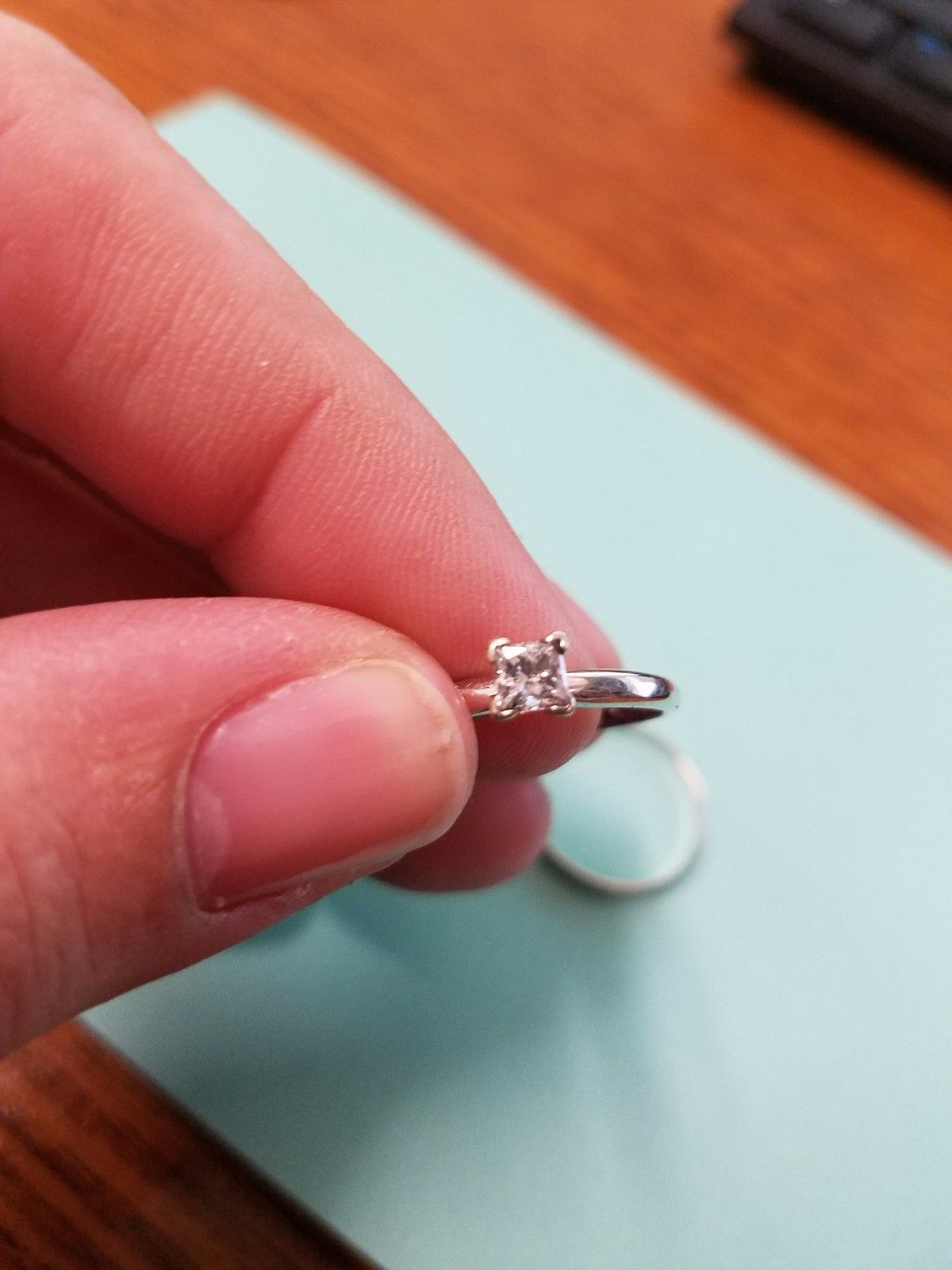 White gold 1 3 carat diamond engagement ring and wedding band size