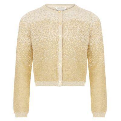 metallic gold girl's cardigan | Kid Couture | Pinterest | Metallic ...
