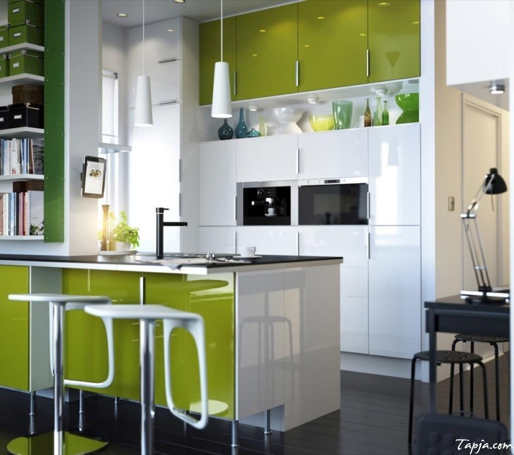 Interior Design For Very Small Kitchen: Elegant Decoration Modern Minimalist Kitchen With Green