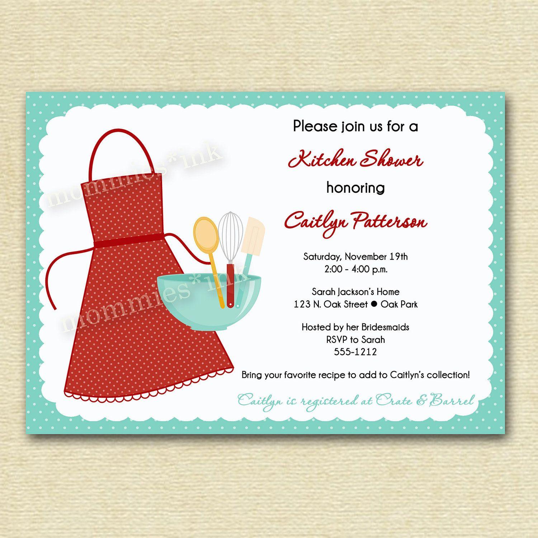 Kitchen Bridal Shower Invitation - PRINTABLE INVITATION DESIGN ...