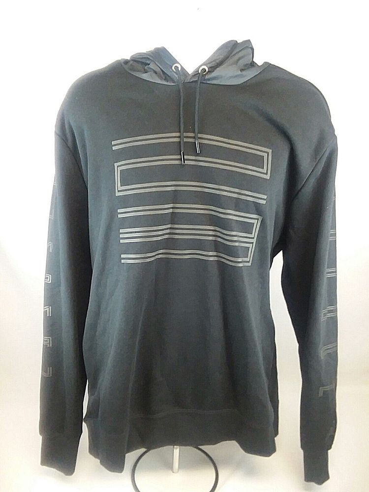 52c03a5eb011b6 Nike Air Jordan 11 Cap Gown Hybrid Pullover Hoodie Black 908354-010 Mens Sz  2XL