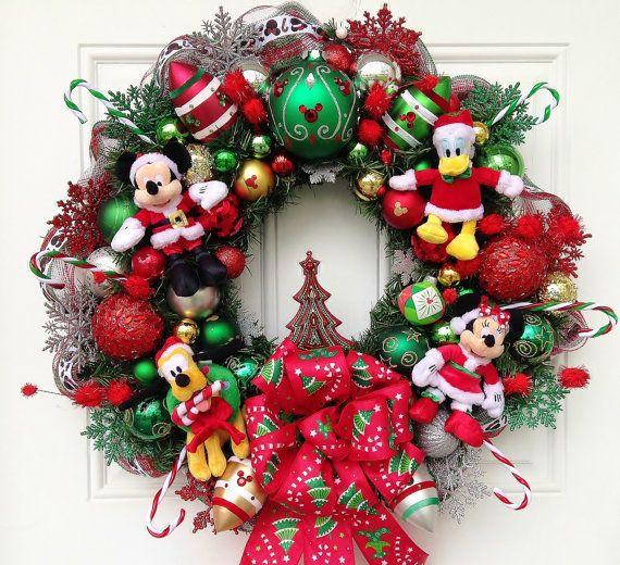 disney christmas wreath by sparkleforyourcastle on etsy 15900
