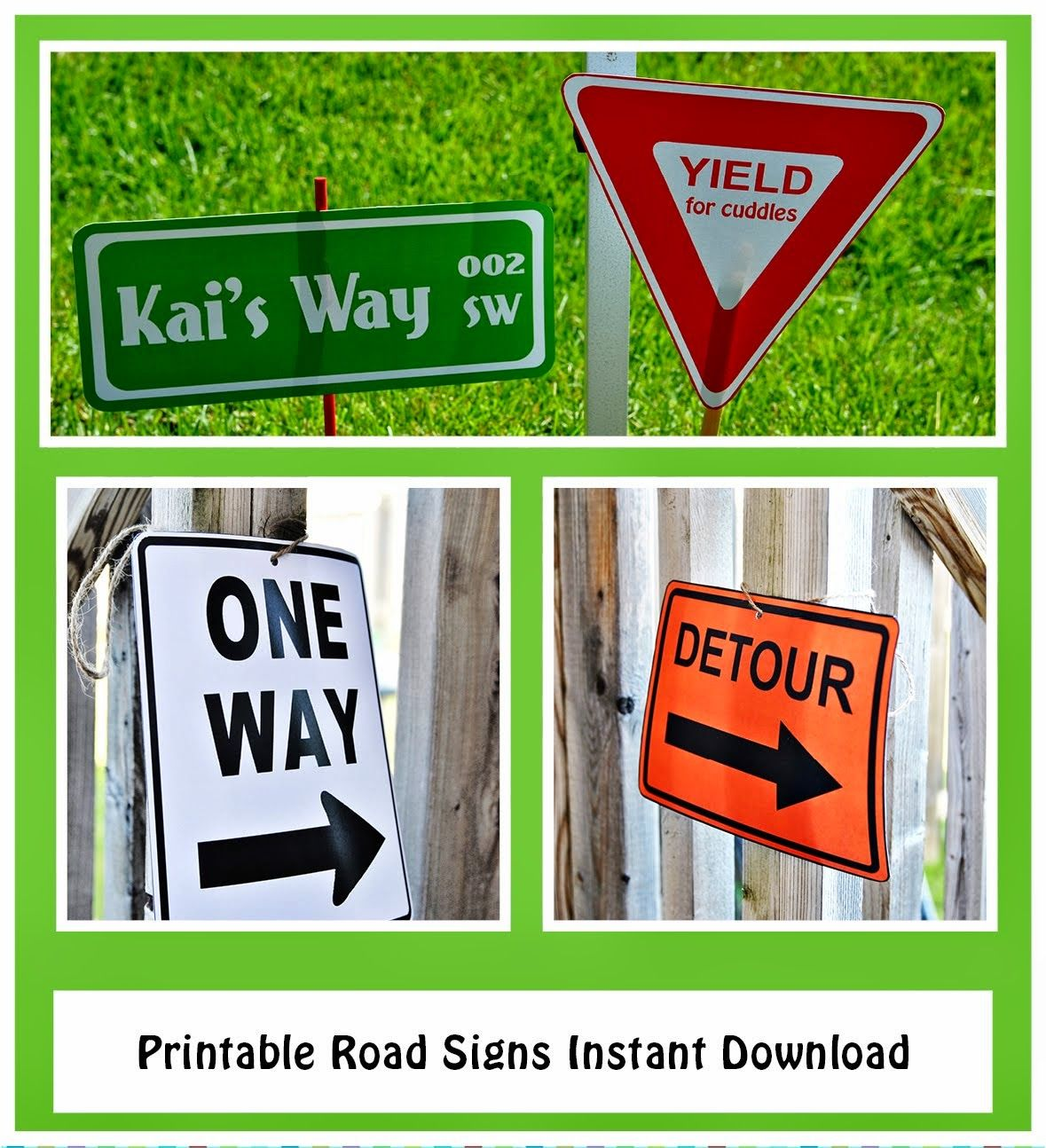 Printable Road Signs Street Sign One Way Sign Detour