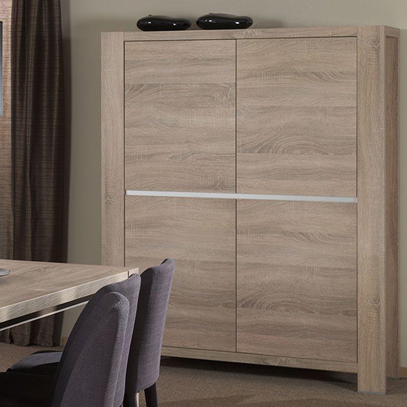 Buffet haut couleur bois moderne GIGARO | Meubles | Pinterest ...