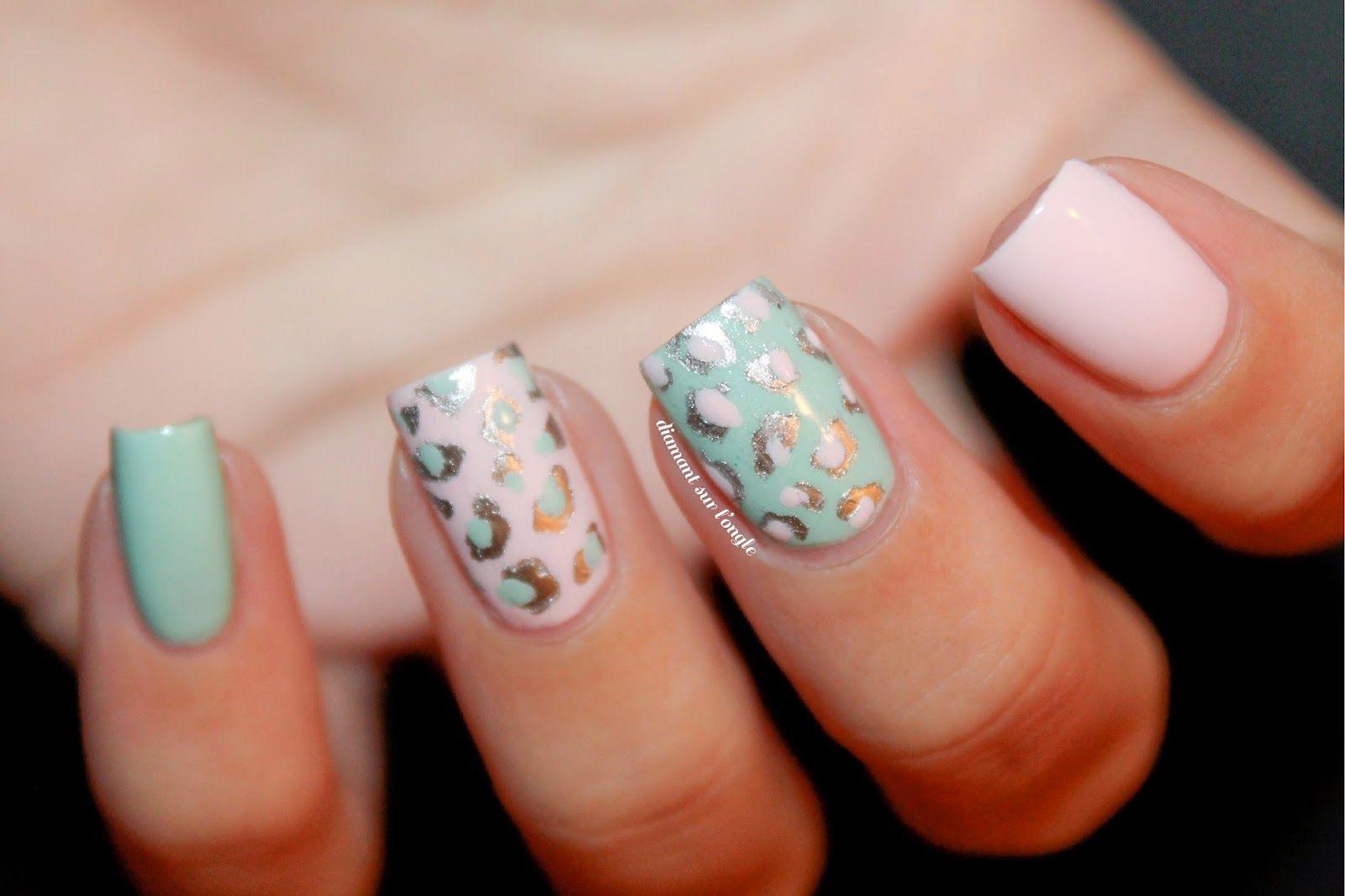 ઈ Nail Art Leopard tout en douceur by diamant sur l\'ongle | My Nail ...