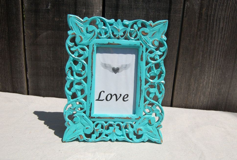 Wood Tiffany Blue picture frame 8x11 by birdcrafter on Etsy, $30.00 ...