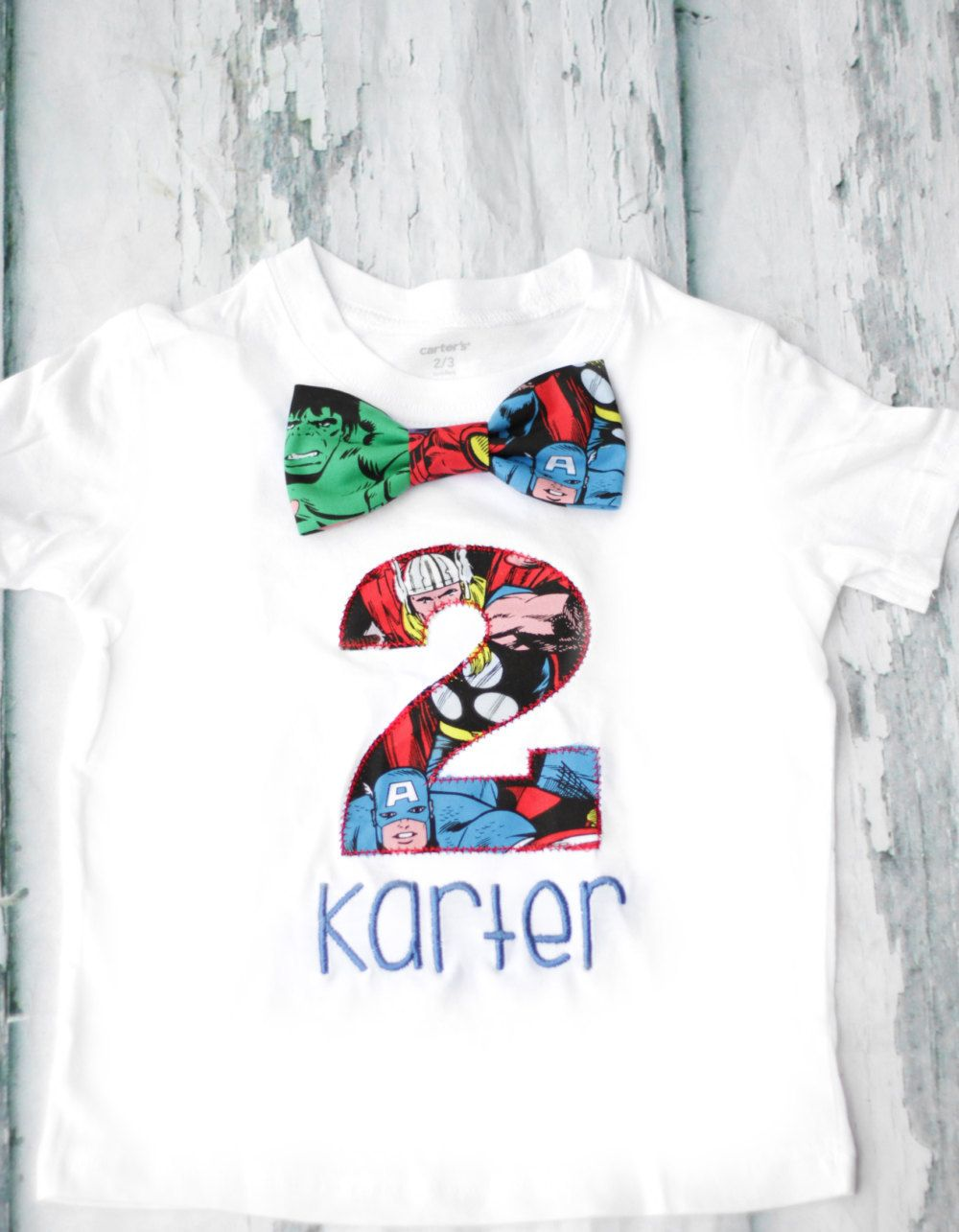 Boy Second Birthday Marvel Themed 2nd Shirt Toddler Hulk T Bow Tie Number 2 Captain America By