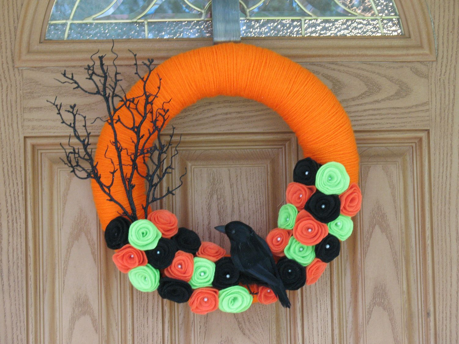 Halloween Night Wreath --Halloween Decor- Halloween Wreath - Halloween Door Decorations