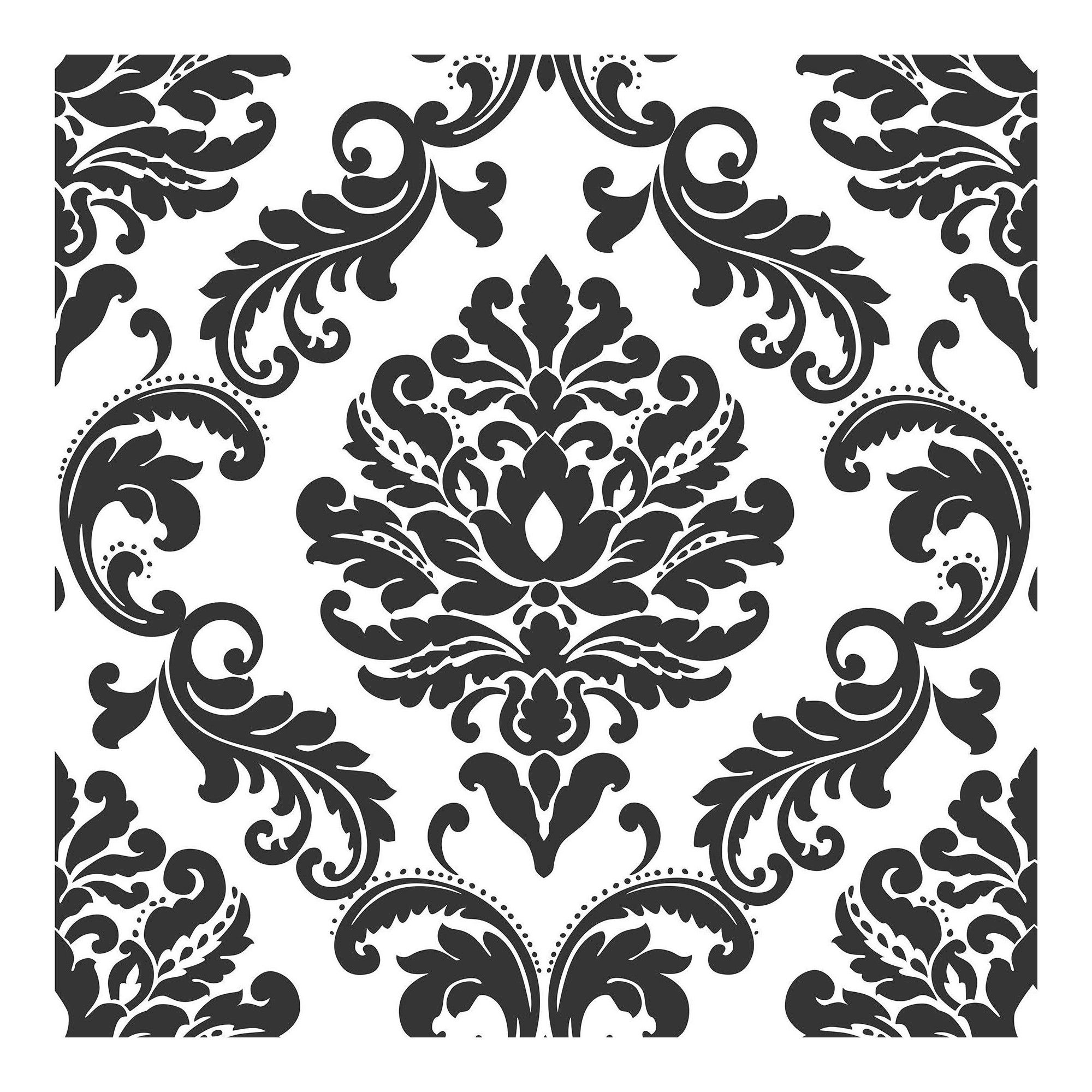 Nuwallpaper Damask Peel Stick Wallpaper Black White Peel And Stick Wallpaper Nuwallpaper Black Wallpaper
