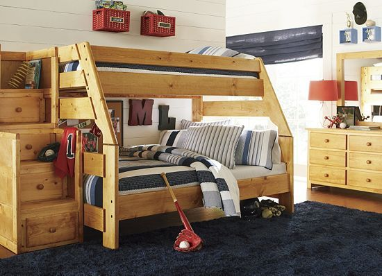 Bedrooms Timber Trail Bunk Bed Twin Over Full Bedrooms