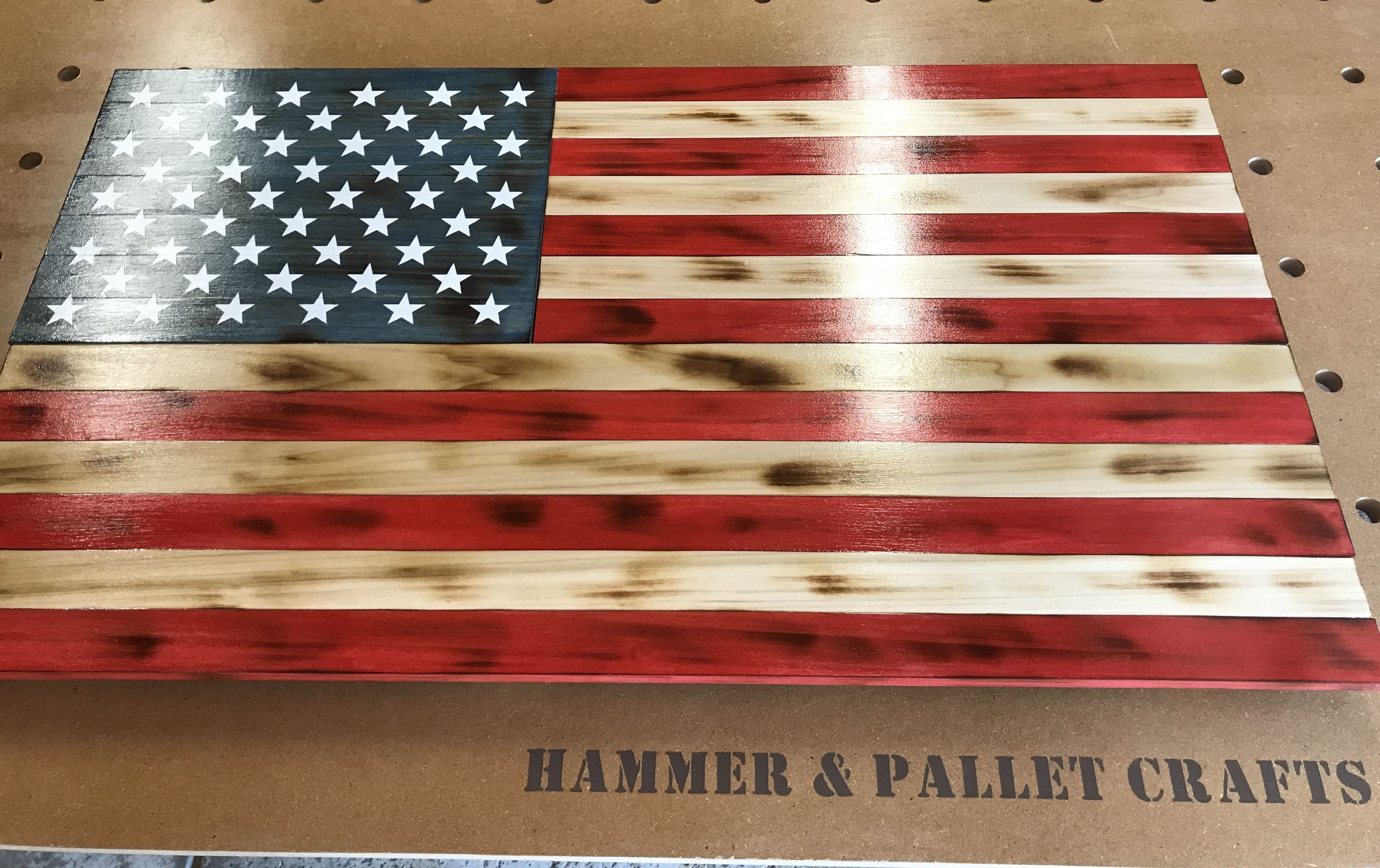 Rustic American Flag Traditional Wooden Flag Wood Flag Rustic American Flag