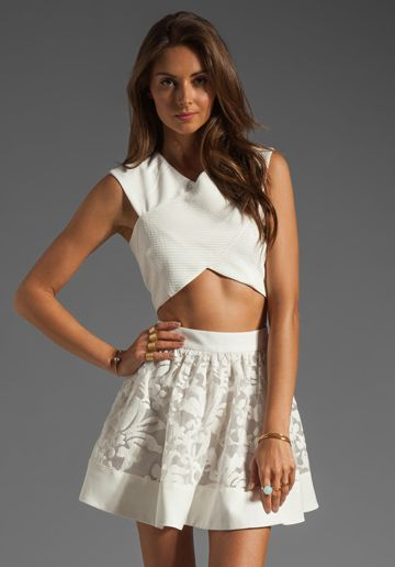 Cameo Snow City Top in White