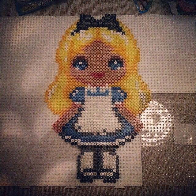 Alice hama perler beads by astimartini