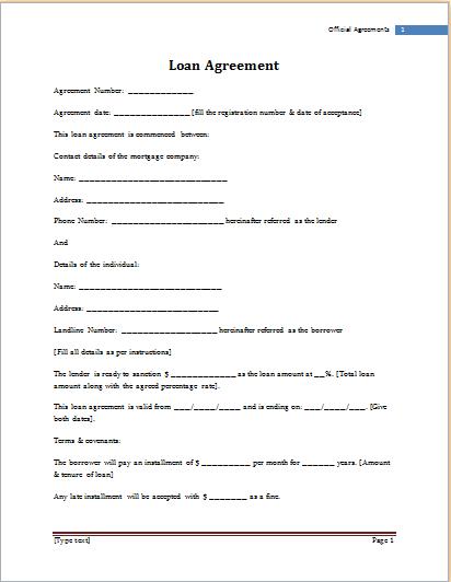 Loan Template Word Template Pinterest Templates Sample Resume