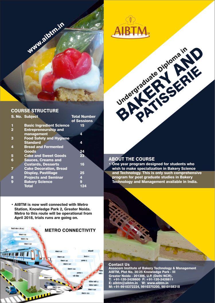 Fresh Batch starting soon on UG Diploma in Bakery Craft