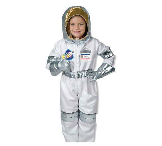 Astronaut Boys Costume NASA Child Silver Space Jumpsuit Underwraps