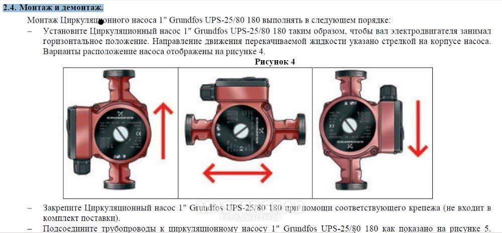 Насосы grundfos инструкция по монтажу