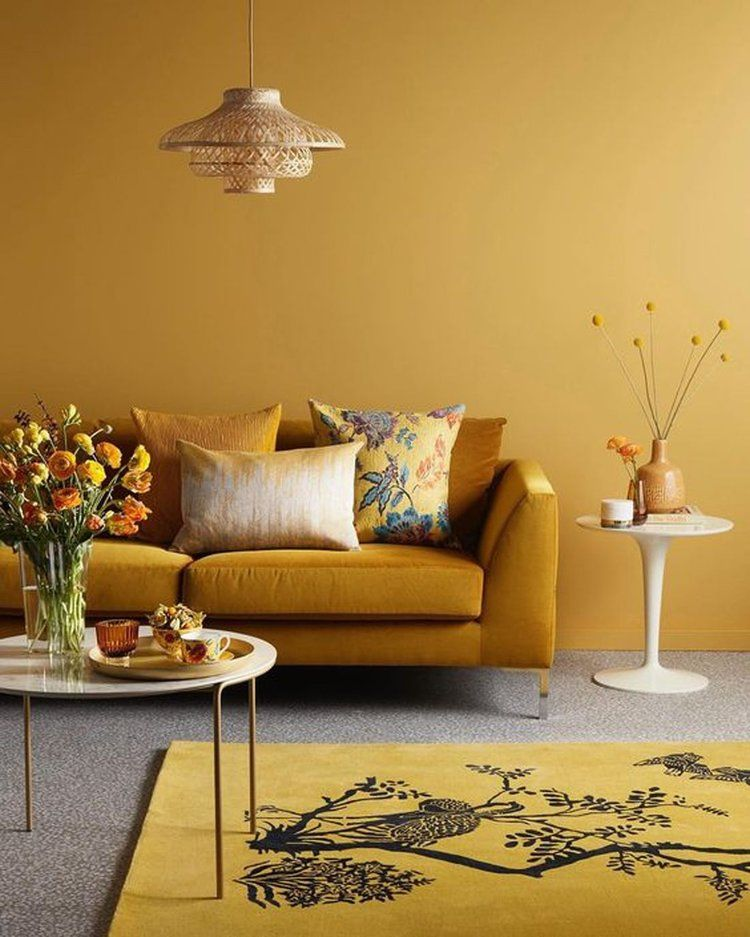 A Color Story Mustard Yellow In Interior Design The Nordroom Yellow Walls Living Room Yellow Living Room Living Room Color