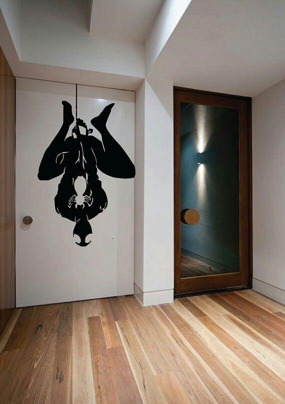 Spiderman door | Spiderman wall art, Vinyl wall art, Marvel room