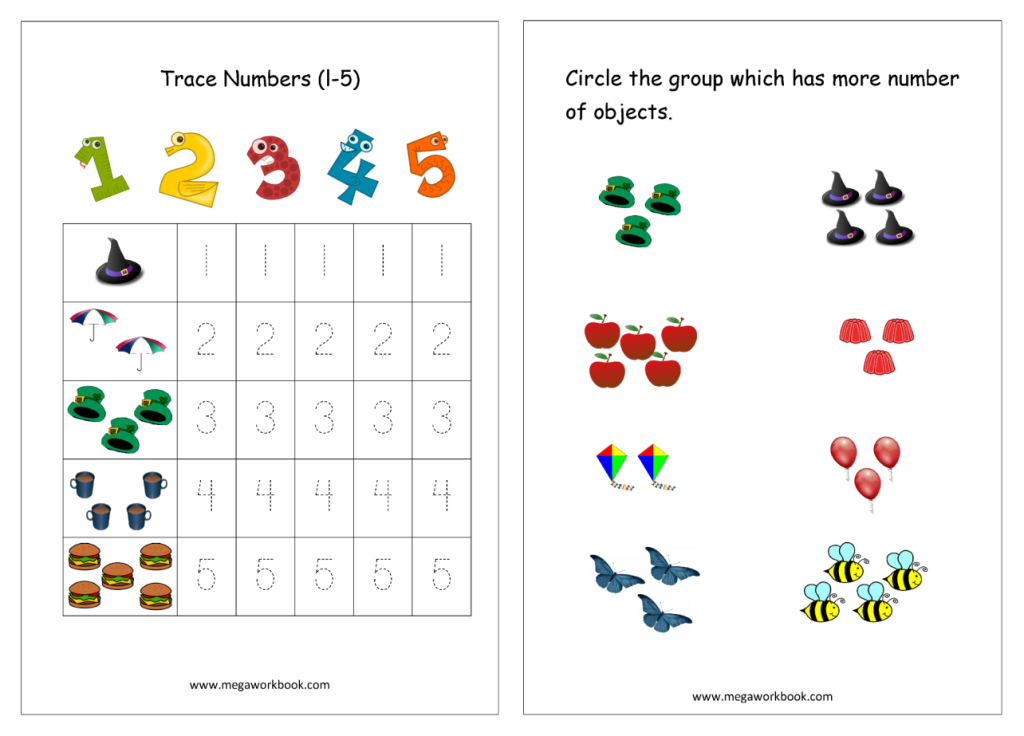Free Worksheets and Study Material for Nursery Study