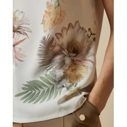Photo of Ted Baker top with woven fabric and woodland print