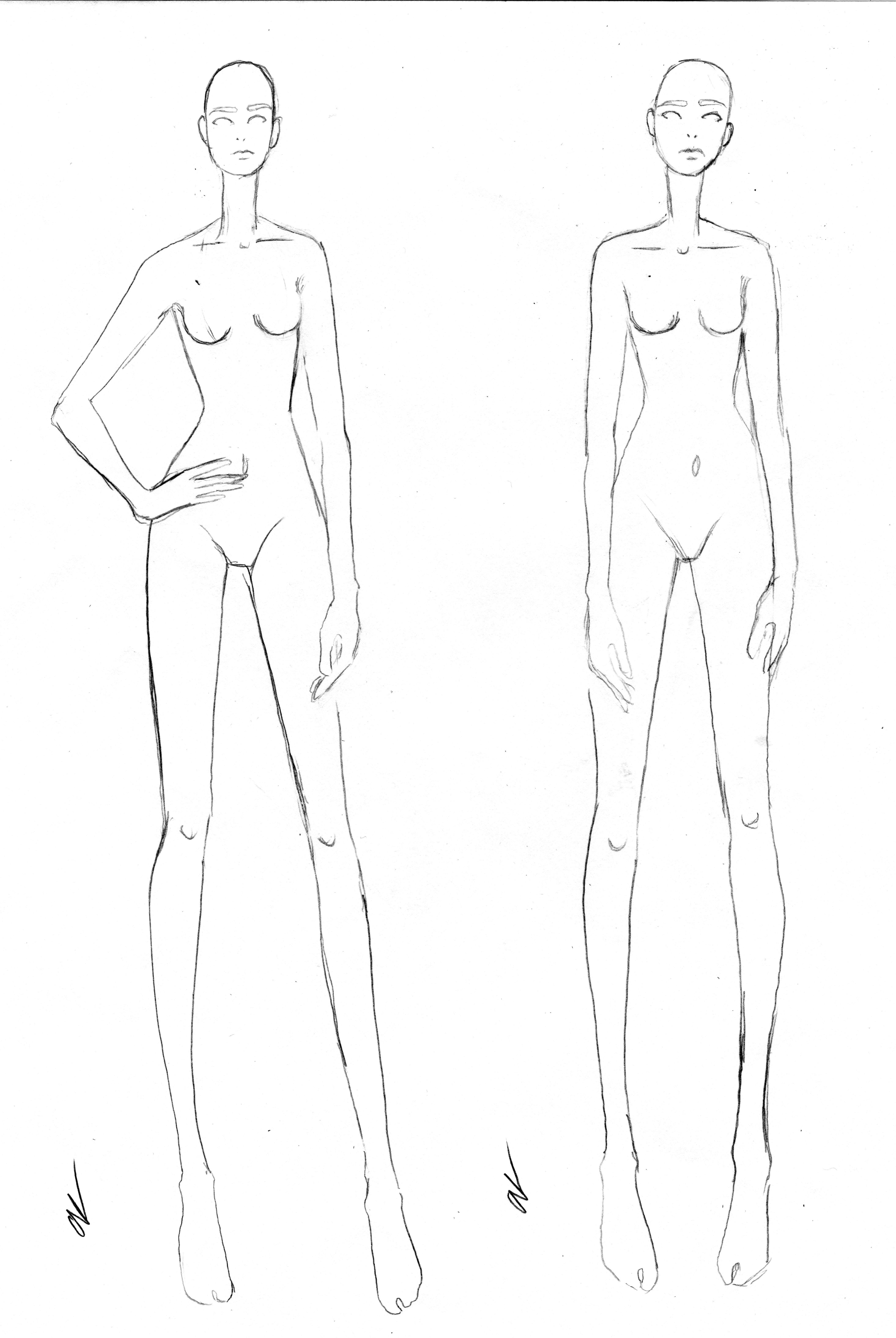 Free Fashion Croquis 02 Croquis Fashion Fashion Figure Drawing Fashion Figures