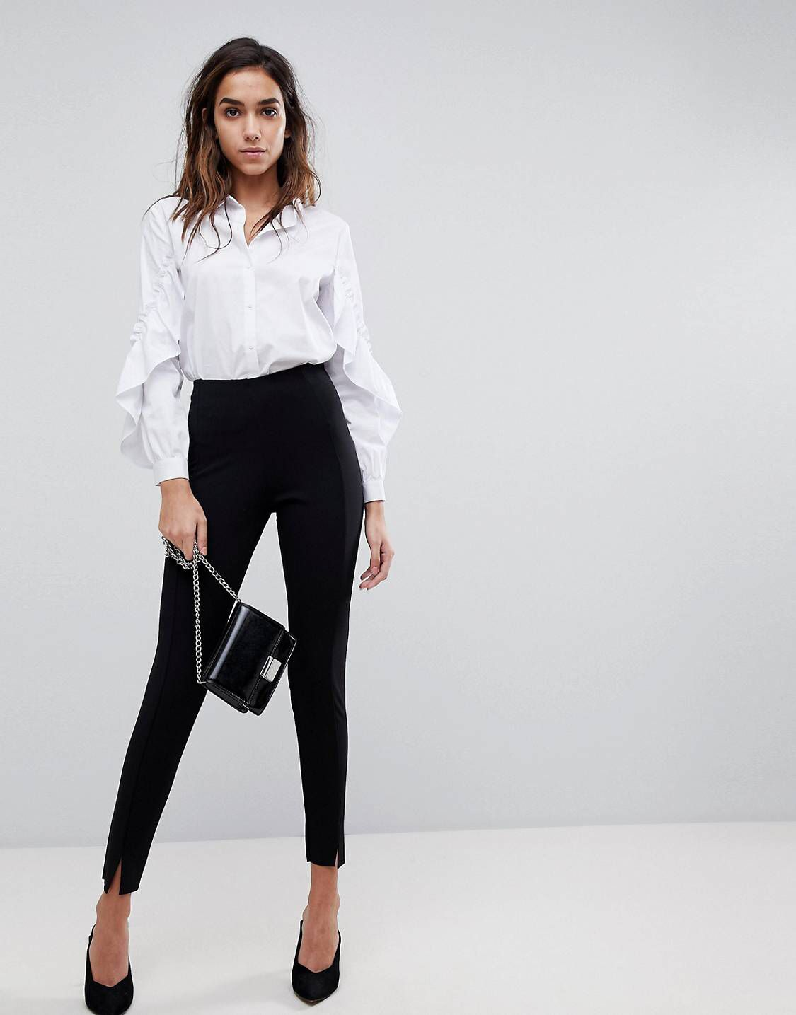 0413b899ef94cf Missguided skinny fit cigarette pants in black | Dramatic | Black ...