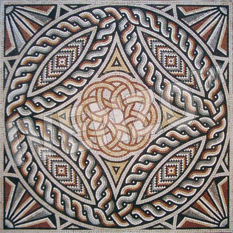 Roman Mosaic Details Ornaments Google Stone