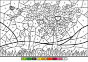 Couple In Love Color By Number Coloring Page Coloring Pages Fall Coloring Pages Free Coloring Pages