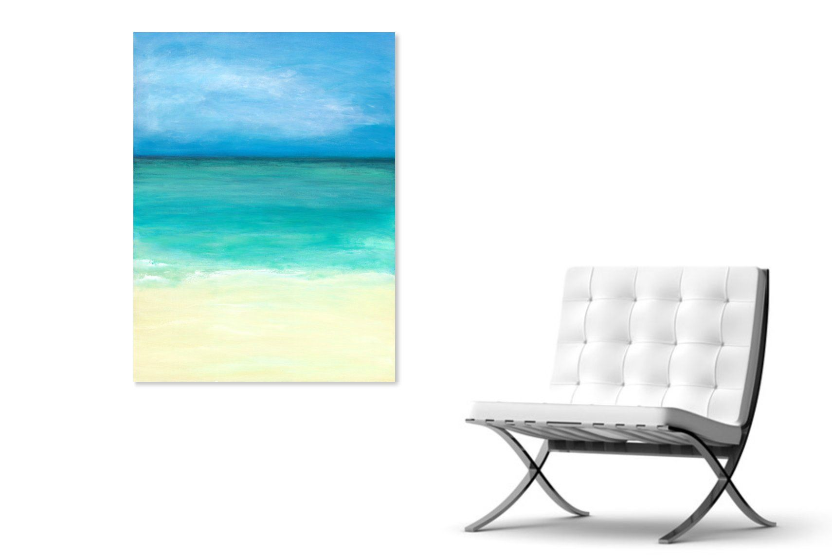 Abstract ocean painting x modern art coastal wall art ocean wall