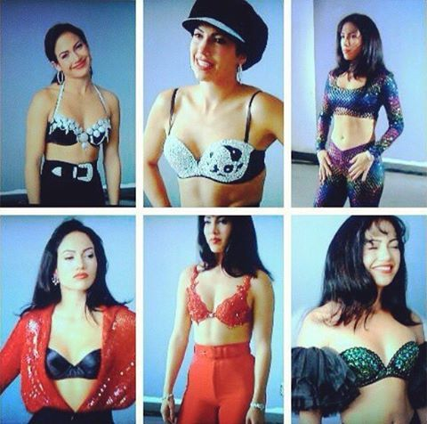 Jlo On Many Different Selena Outfits For The Selena Movie Selena