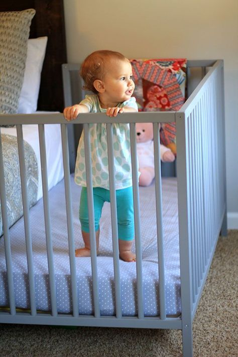 Diy Co Sleeper Review One Year Later Diy Baby Furniture Baby Co Sleeper