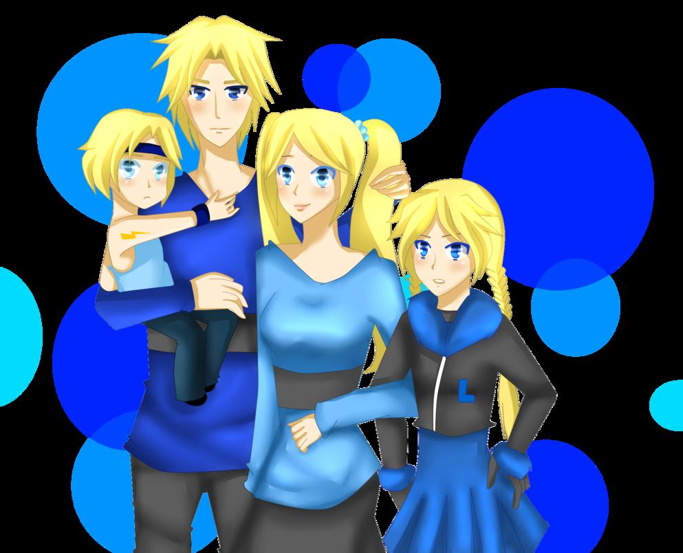 La familia Blue de NanakoBlaze en DeviantArt