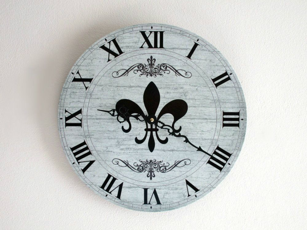 Fleur De Lis Wall Clock French Country Wall Decor Clock Unique