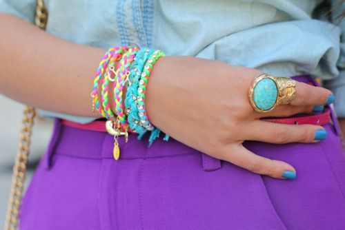 The purple, the turquoise, the pink. Love it!