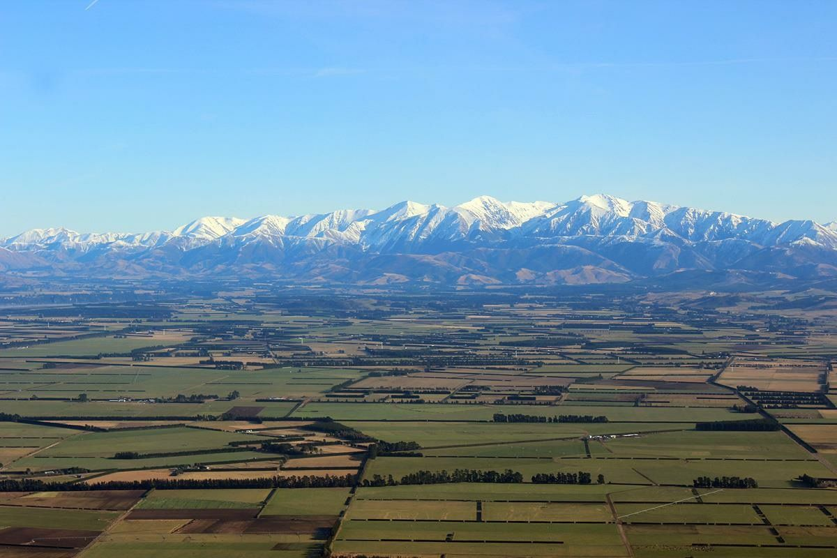Canterbury Plains and The Southern Alps.
