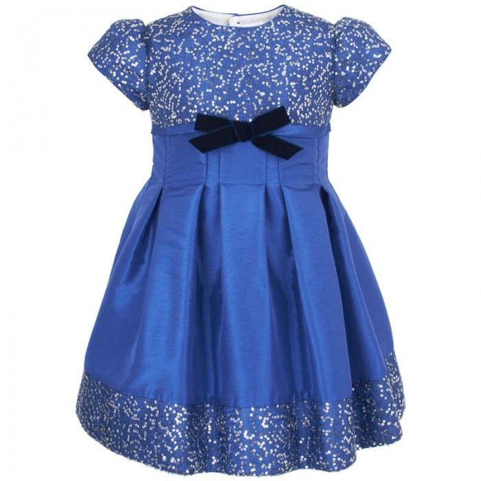 Blue Christmas Dress for Girls #Sparkle #Sequin   Books Worth ...