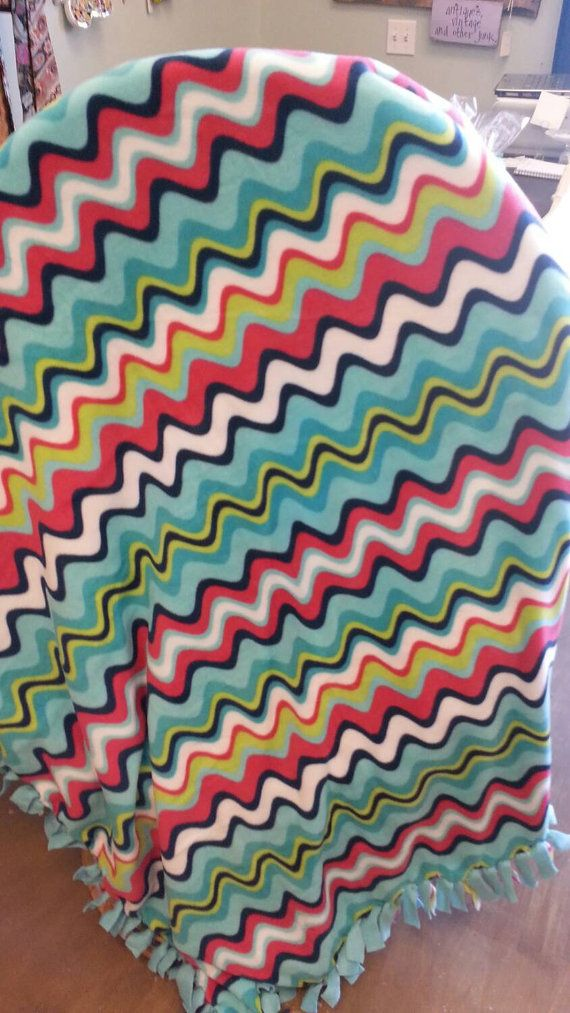 Hey, I found this really awesome Etsy listing at https://www.etsy.com/listing/223334497/wiggley-chevron-fleece-blanket #etsy #gift #handmade #chevron #fleece