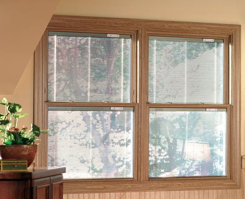 Between The Panes Double Hung Windows Windows With Blinds Windows