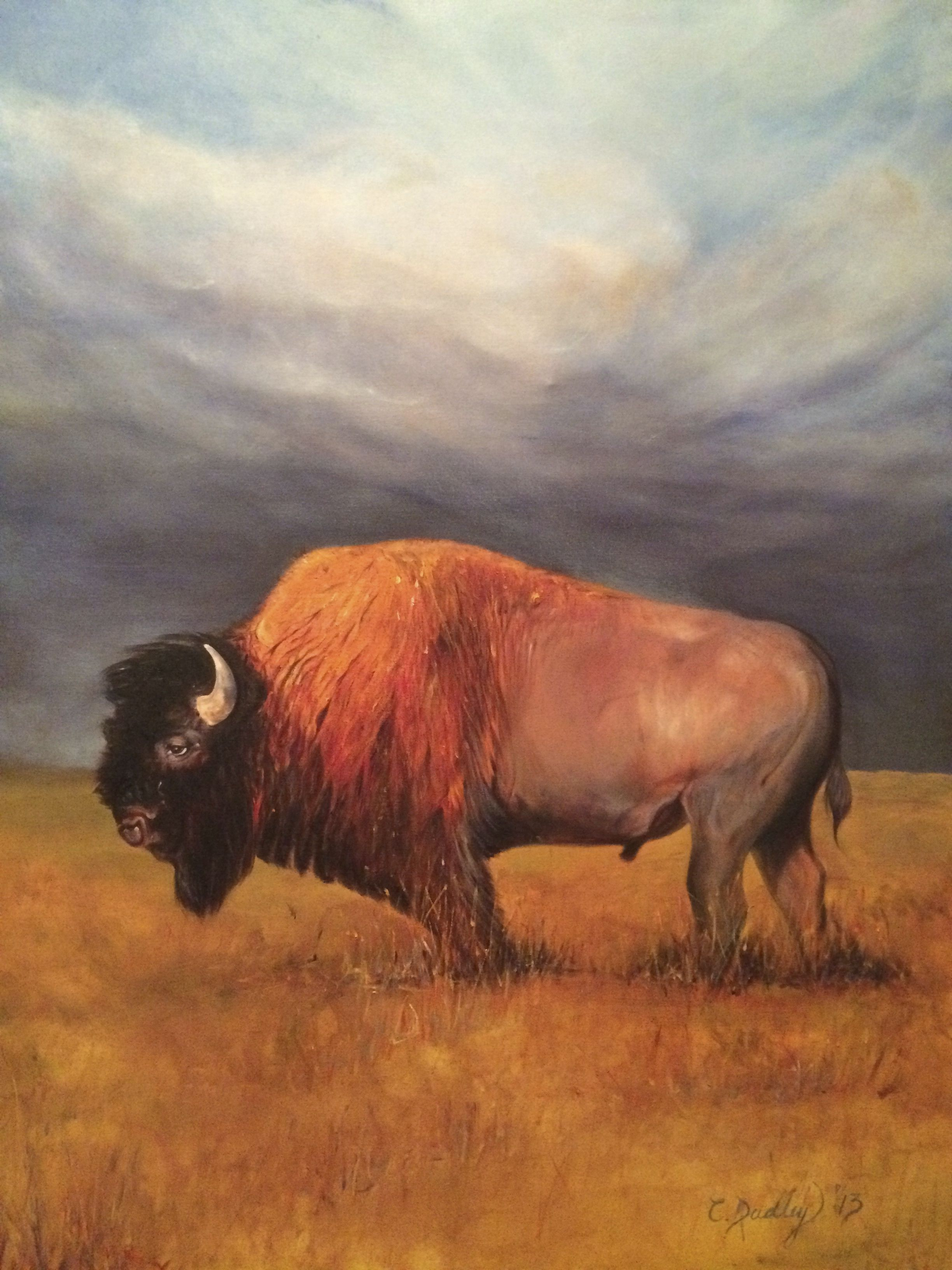 Buffalo Painting Bison Are Magnificent Buffalo Art