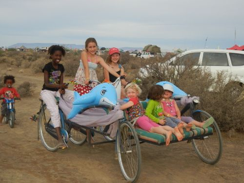 Love this isn't a bicycle, it is a Fivecycle! Taken at Afrika Burns in South Africa.