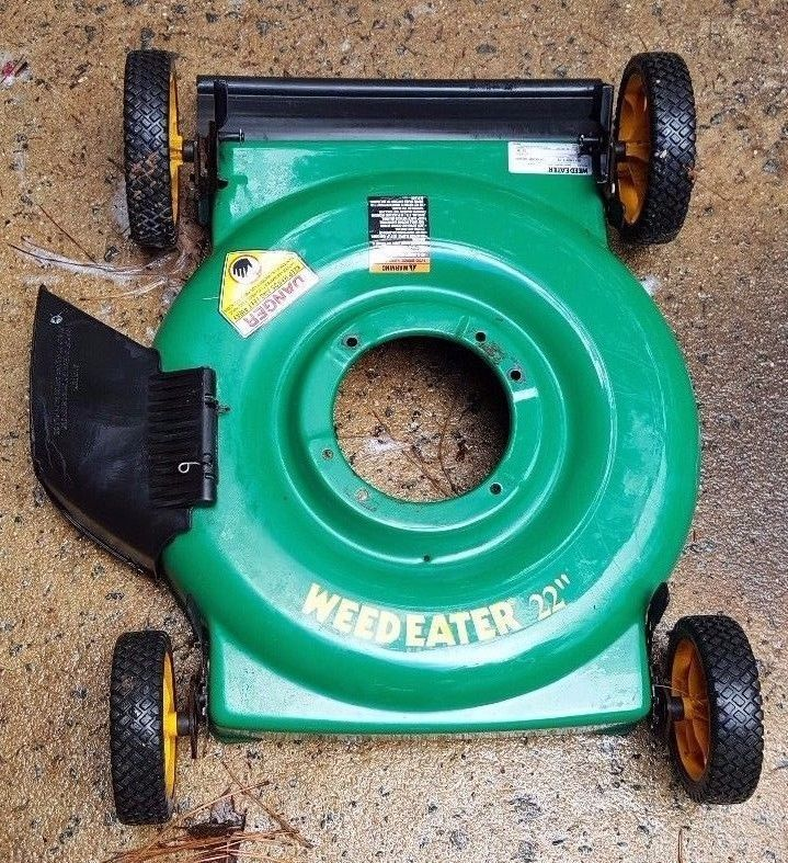 Weedeater 22 Lawn Mower Steel Deck Body With Wheels Please Read Steel Deck Lawn Mower Mower